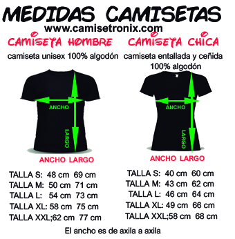 Medidas camisetas parejas