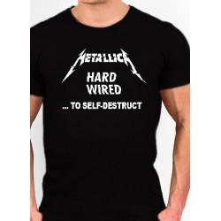 Camiseta METALLICA HARD WIRED  TO SELF  - DESTRUCT