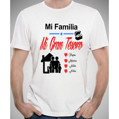 mejores ofertas en muy bonito últimas tendencias de 2019 CAMISETA Personalizada MI FAMILIA MI GRAN TESORO