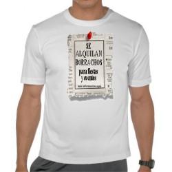 Camiseta  Friki cachonda Se alquilan Borrachos