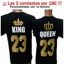 Camiseta KING  (para chico) Personalizar DORADO