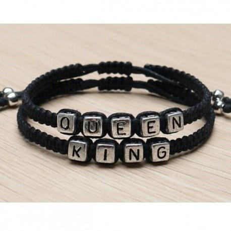 Pulseras KING y QUEEN para parejas