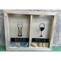 Cuadro para chapas de cerveza y tapones de corcho de vino