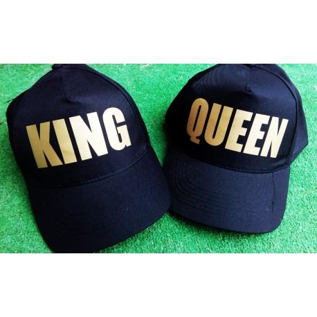 GORRAS KING Y QUEEN EL PACK POR 10,95€ LETRAS EN DORADO