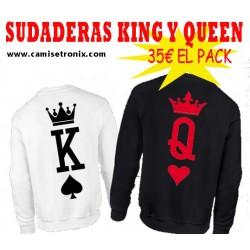 SUDADERA KING  (para chico) Estilo carta de Poker
