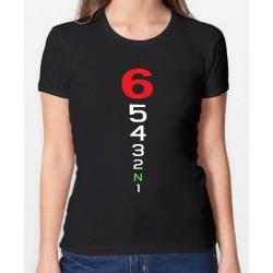Camiseta MOTERA marchas de moto para mujer10€