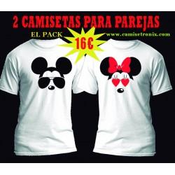 Camisetas para parejas Mickey y Mininie Pack 16€