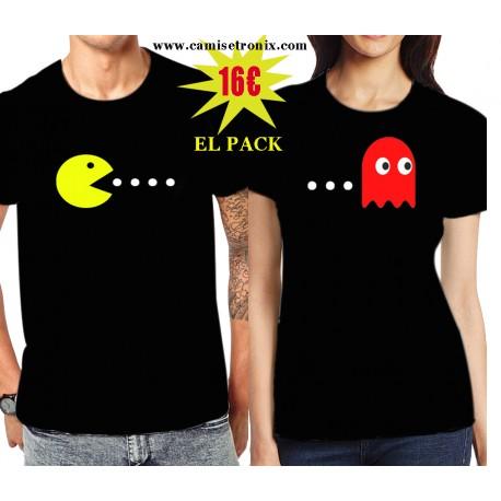 Camisetas para parejas COMECOCOS 16€ EL  PACK