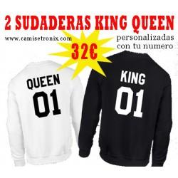 Sudaderas para parejas KING y QUEEN PACK 32€