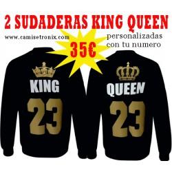 Sudaderas para parejas KING y QUEEN PACK 35€ Números en DORADO