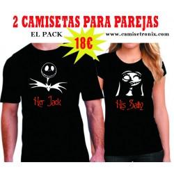 Pack Camisetas para parejas Pesadilla antes de Navidad 18€