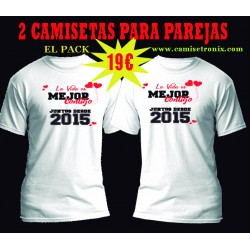 Camisetas para parejas Juntos Desde Pack 19€