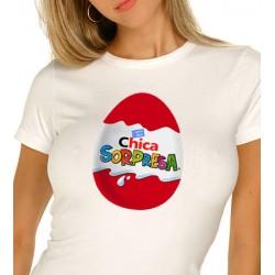 Camiseta Huevo Kinder Chica Sorpresa 9,75€