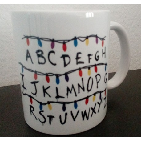 Taza Abecedario Stranger Things 7€
