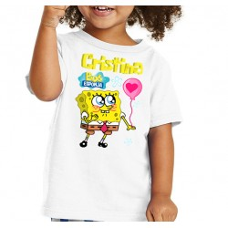 Camiseta niña personalizada Bob Esponja 10€