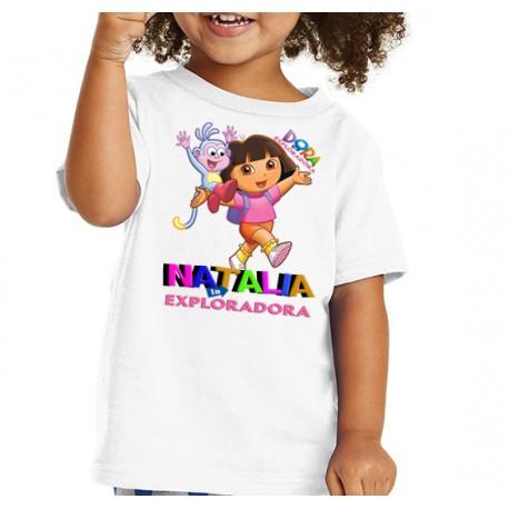Camiseta niña personalizada Dora La Exploradora 10€
