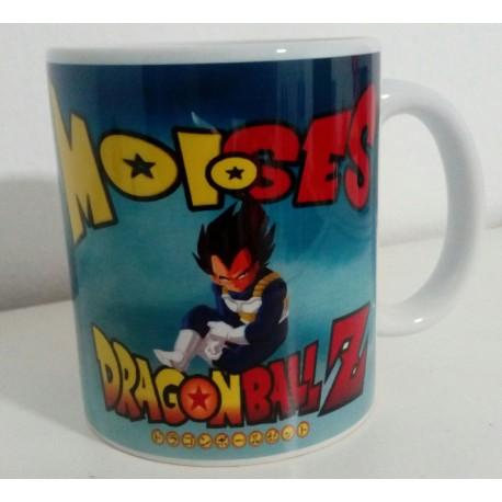 Taza VEGETA Bola de Dragón personalizada con el nombre