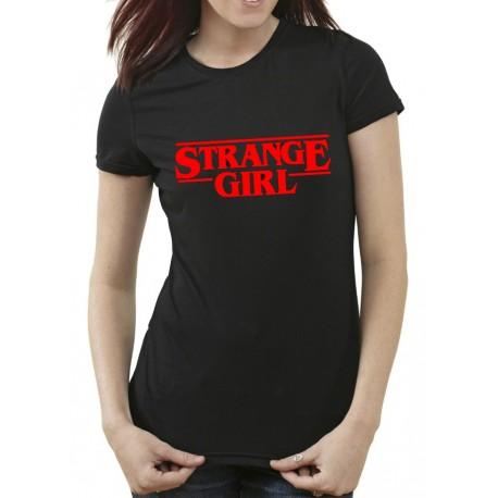 Camiseta STRANGE GIRL DE MUJER 9€