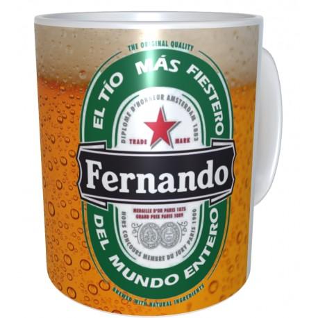 Taza etiqueta de cerveza personalizada con el nombre  Regalo para cerveceros 9€