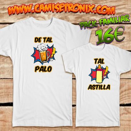 Camisetas DE TAL PALO TAL ASTILLA padre e hijo 16€