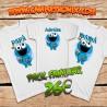 Pack camisetas familia Monstruo de las Galletas personalizada 26€