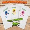 Pack camisetas familia BABY SHARK personalizada 26€