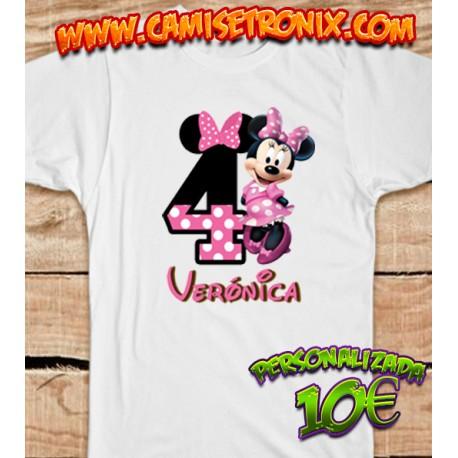 Camiseta personalizada de Minnie para cumpleaños 10€