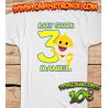 Camiseta BABY SHARK personalizada para cumpleaños 10€