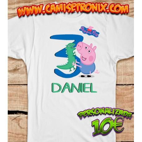 Camiseta GEORGE  PEPPA PIG personalizada para cumpleaños 10€