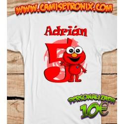 Camiseta ELMO personalizada para cumpleaños 10€