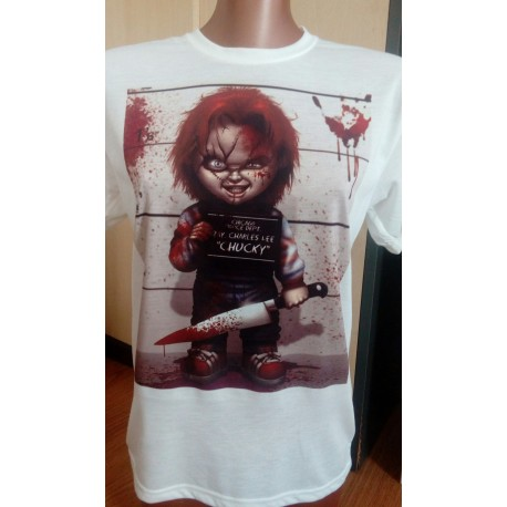 Camiseta Chucky muñeco diabólico de terror 9,95€