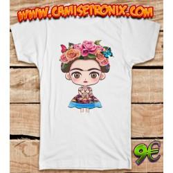 Camiseta Frida Kahlo muñeca 9€