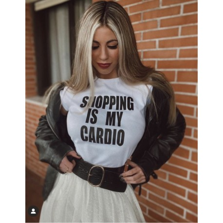 Camiseta SHOPPING IS MY CARDIO molona por 10€