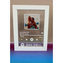 Marco personalizado con foto y canción favorita Spotify