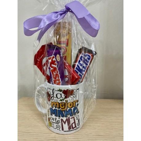 Taza Día de la madre con snacks de chocolate 10€