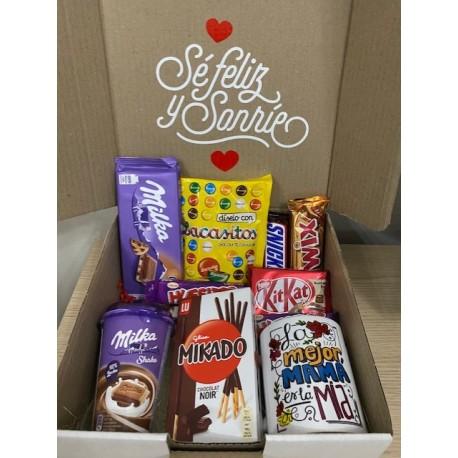 Caja regalo Taza + Snacks Chocolate Día de la Madre