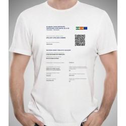 Camiseta personalizada Certificado Vacunación COVID-19