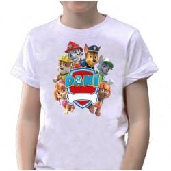 Camiseta LA PATRULLA CANINA personalizada para cumpleaños 10€