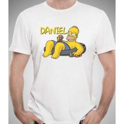 Camiseta Homer Simpson personalizada con nombre 9,95€