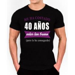 Camiseta cumpleaños 40 años 9,95€.