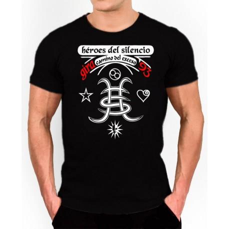 Camiseta Héroes Del Silencio, logo gira Camino del Exceso 93