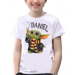 Camiseta Baby Yoda estilo Harry Potter personalizada para cumpleaños 10€