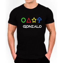 Camiseta unisex  El Juego del Calamar personalizada con el nombre 9,95€