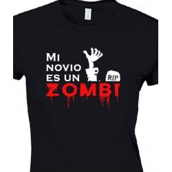 Camiseta para chica Mi novio es un Zombi