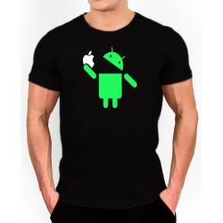 Camiseta Friki Android come manzana