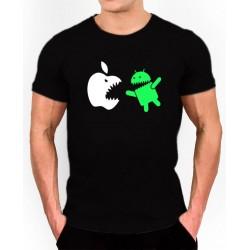 Camiseta Friki Android VS manzana