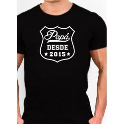 Camiseta barata estilo Friki PAPA DESDE AÑO ELEGIDO