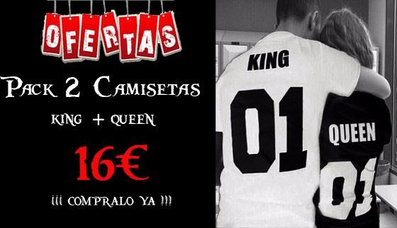 Camisetas King Queen baratas 16€