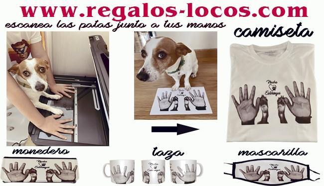 Regalos personalizados con tus huellas y las de tu perro escaneadas