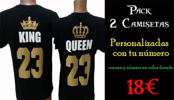 Camisetas King Queen baratas 18€ el Pack
